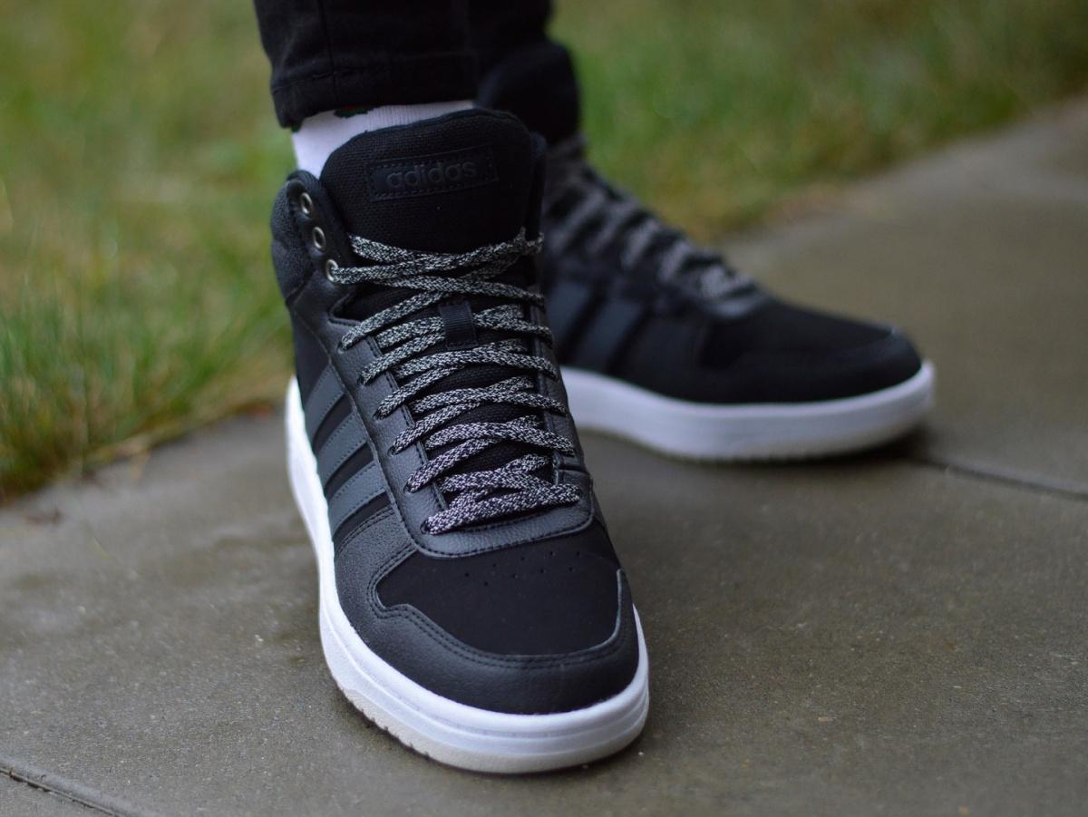 adidas Hoops 2.0 Mid Shoes White | adidas Ireland